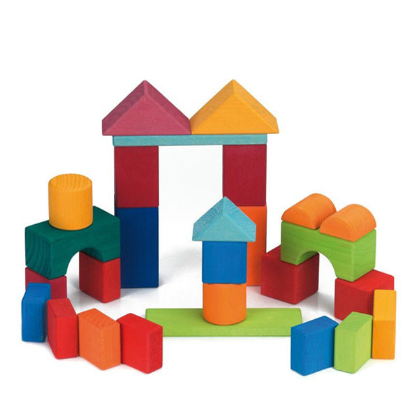 Glückskäfer Wooden Building Blocks - Coloured