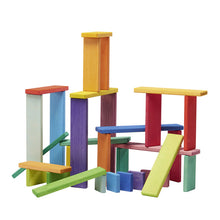 Glückskäfer Rainbow Building Slats - 32 Pieces