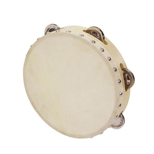 Goki Tambourine with Drumhead and 5 Bells