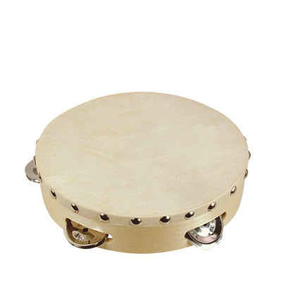 Goki Tambourine with Drumhead and 5 Bells - Elenfhant