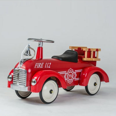 Goki Classic Ride On Metal Car - Fire Brigade