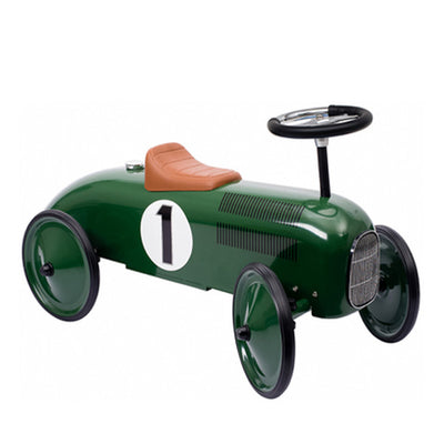 Goki Classic Ride On Metal Car - Green