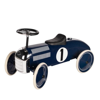 Goki Classic Ride On Metal Car - Navy
