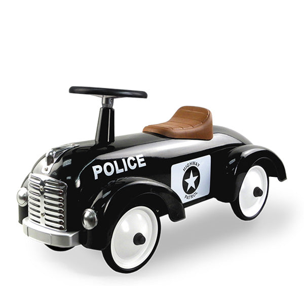 Goki Classic Ride On Metal Car - Police