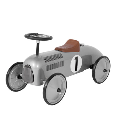 Goki Classic Ride On Metal Car - Silver
