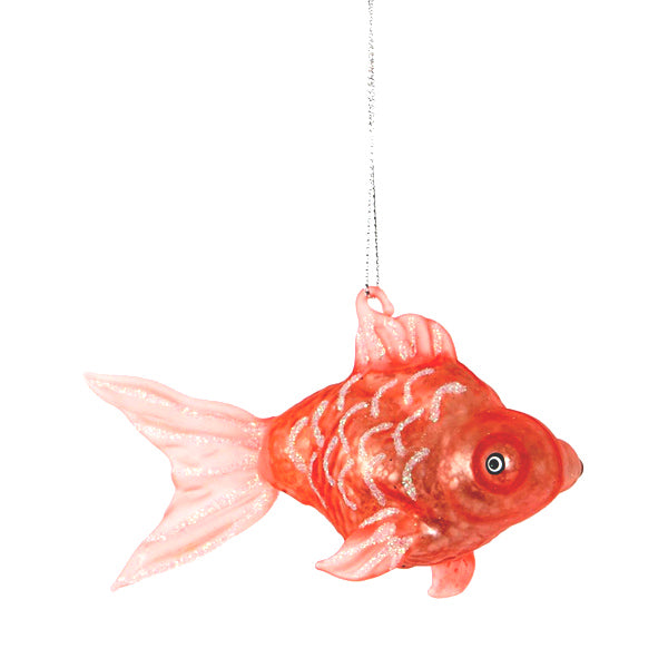 Glass Shaped Christmas Bauble - Goldfish