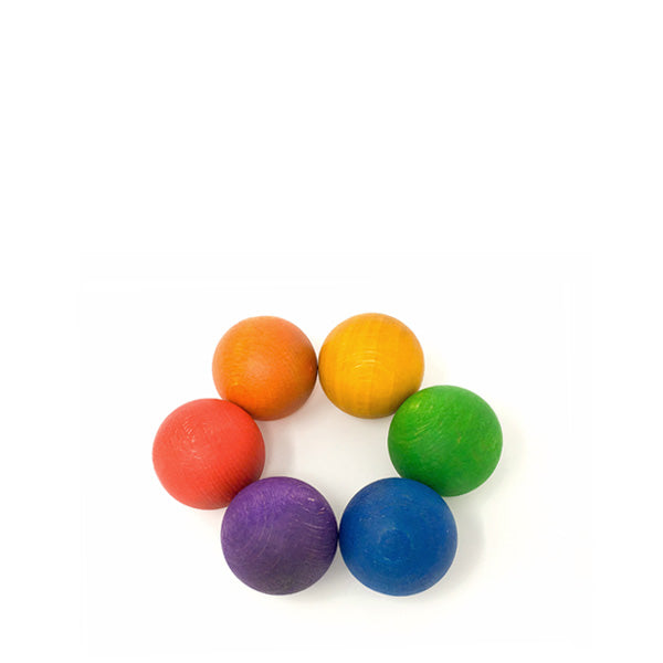 Grapat 6 Balls in the Rainbow Colours