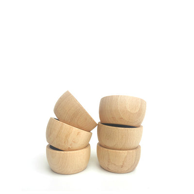 Grapat 6 Bowls - Natural Wood