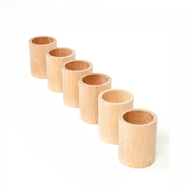 Grapat 6 Cups - Natural Wood