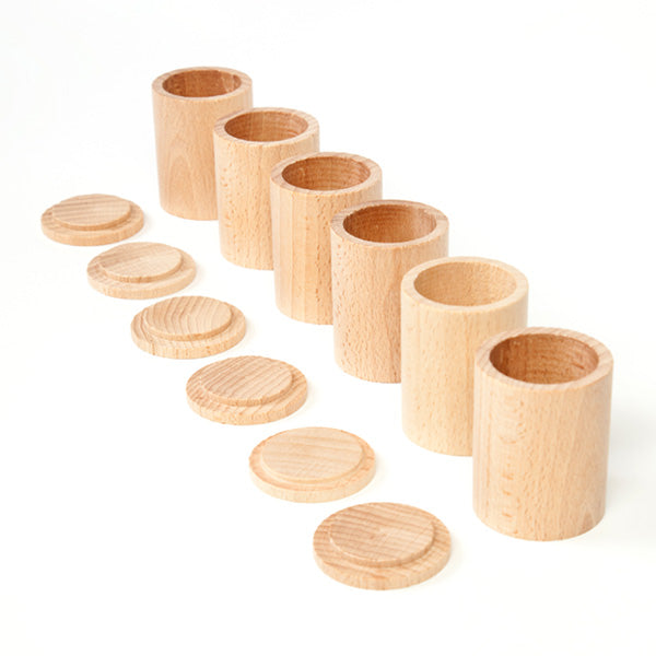 Grapat 6 cups with Lid - Natural Wood