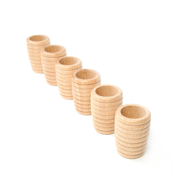Grapat 6 Honeycomb Beakers - Natural Wood