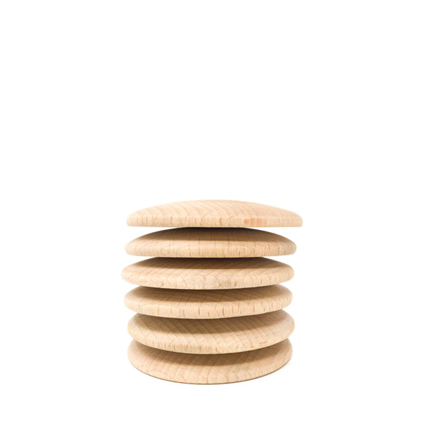Grapat 6 Discs - Natural Wood