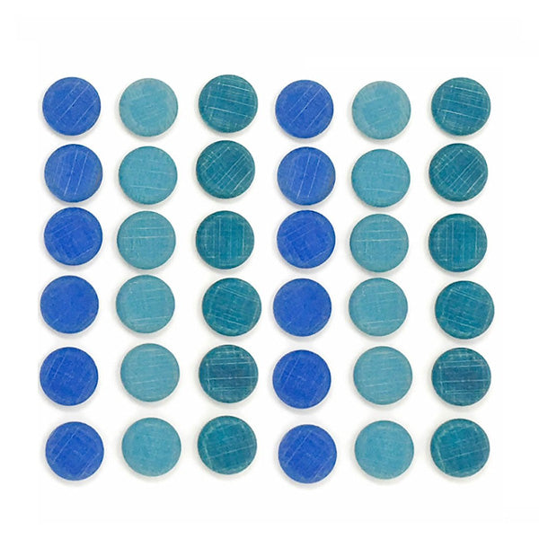 Grapat Mandala - Small Blue Coins 36 pcs