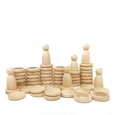 Grapat Nins®, Rings and Coins - Natural Wood