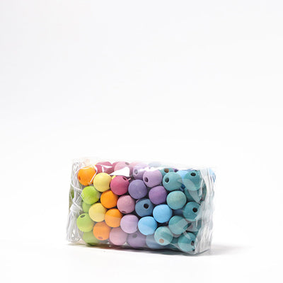 Grimm's Pastel Wooden Beads Small 12mm - 120 pieces