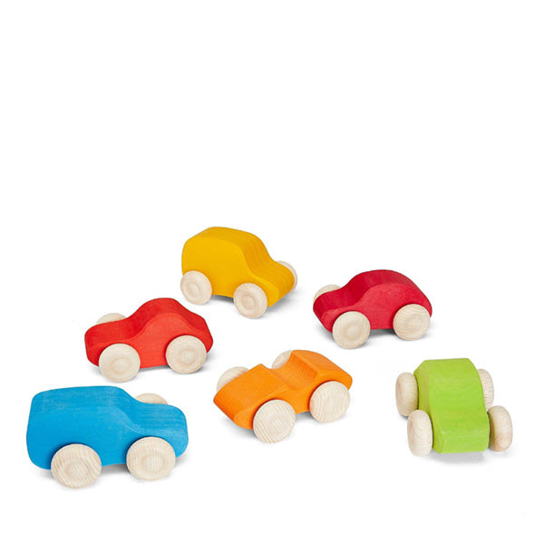 Grimm's 6 Cars – Coloured