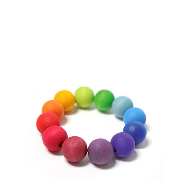 Grimm's Grasping Toy - Rainbow Bead Ring