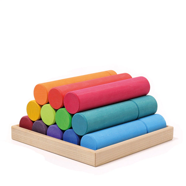Grimm's Large Building Rollers - Rainbow