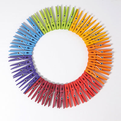 Grimm's Rainbow Clothespins - Set of 42