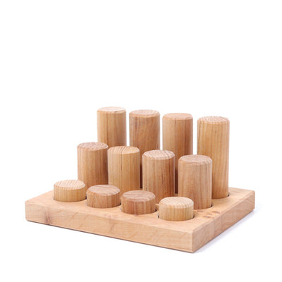 Grimm's Stacking Game Small Rollers - Natural