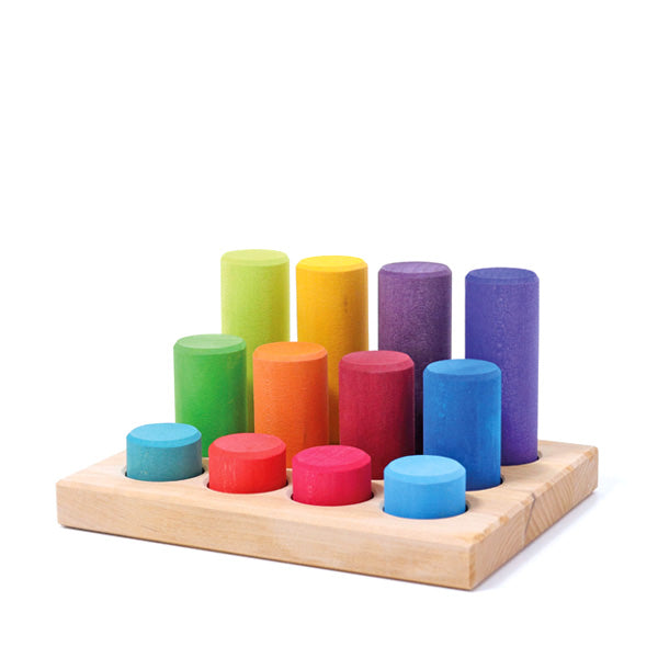 Grimm's Stacking Game Small Rollers - Rainbow