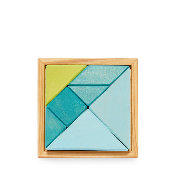 Grimm's Tangram incl. Templates – Blue/Green