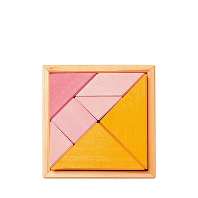Grimm's Tangram incl. Templates – Orange/Pink