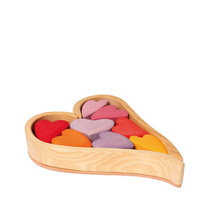 Grimm's Building Set Hearts – Red