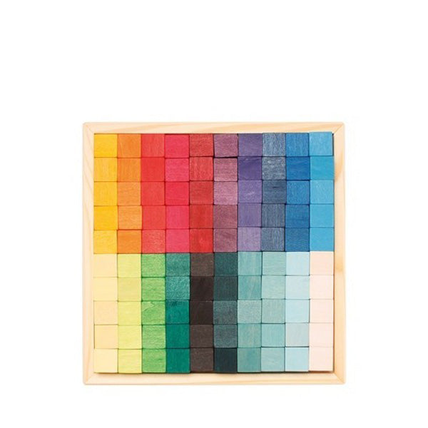 Grimm's Mosaic Square Small – 100 Cubes