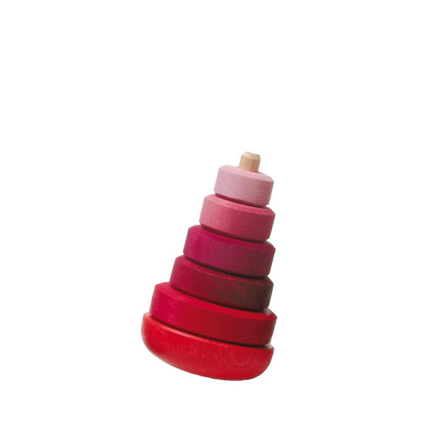 Grimm's Wobbly Stacking Tower – Pink