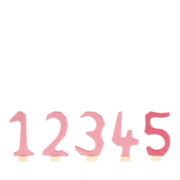 Grimm's Decorative Numbers Set 1-5 – Pink