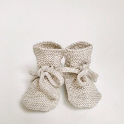 Hvid Knitted Booties – Off White