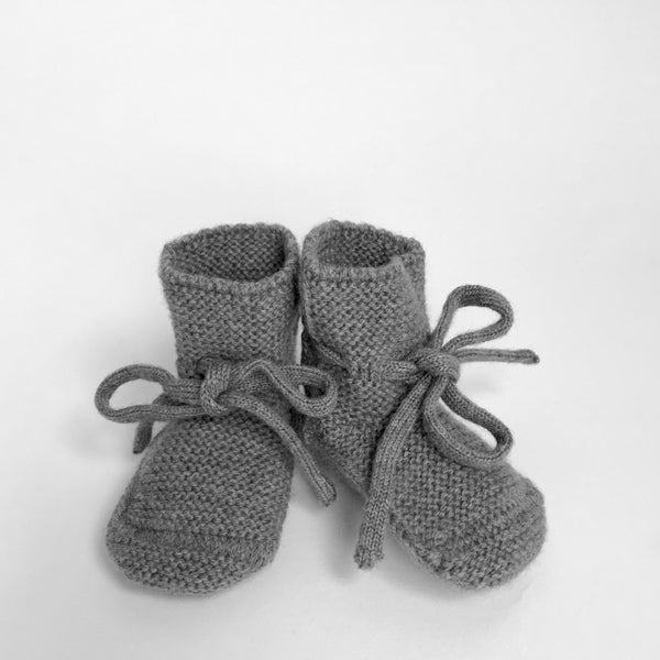 Hvid Knitted Booties – Otter