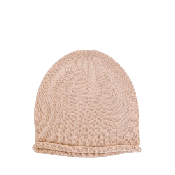 Hvid Knitted Beanie Efa - Apricot