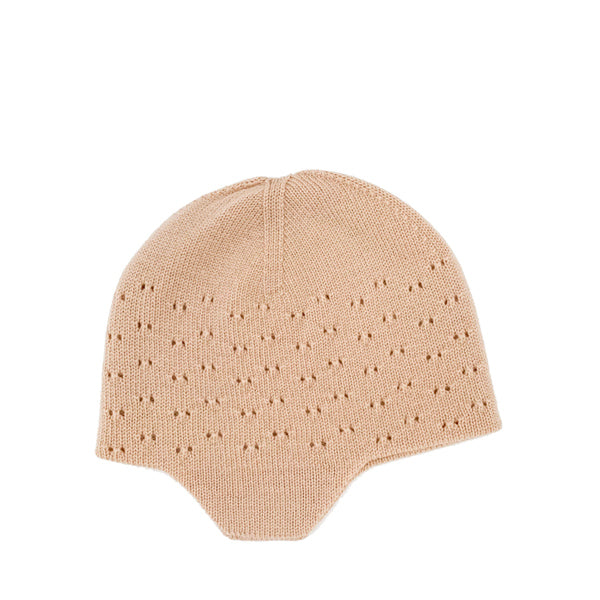 Hvid Knitted Hat Dua - Apricot