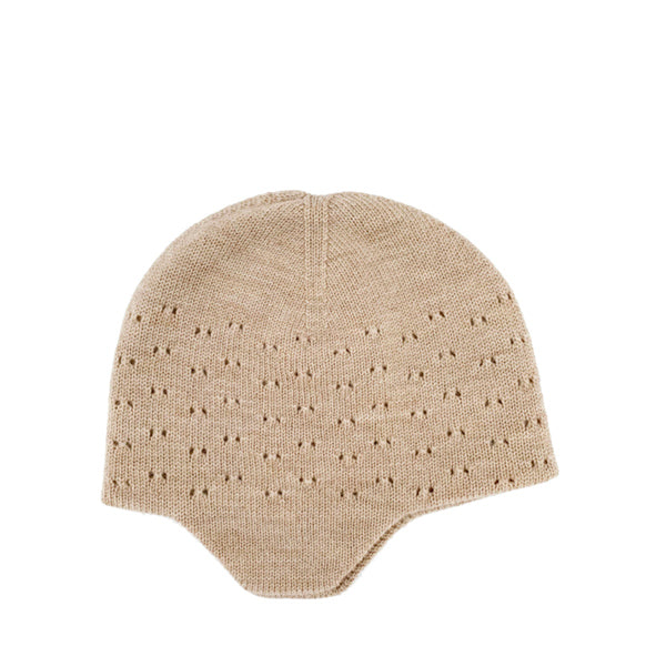 Hvid Knitted Hat Dua - Sand