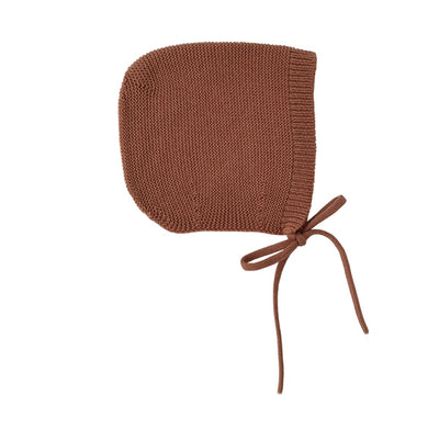Hvid Knitted Bonnet Dolly - Brick