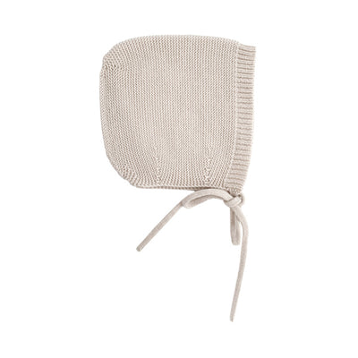Hvid Knitted Bonnet Dolly - Off White
