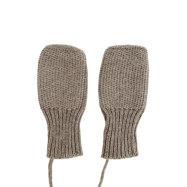 Hvid Knitted Mittens - Otter