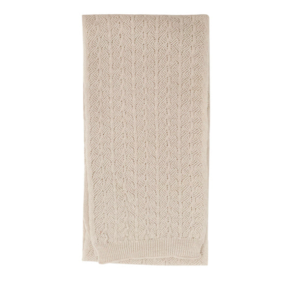 Hvid Knitted Scarf Eduart - Off White