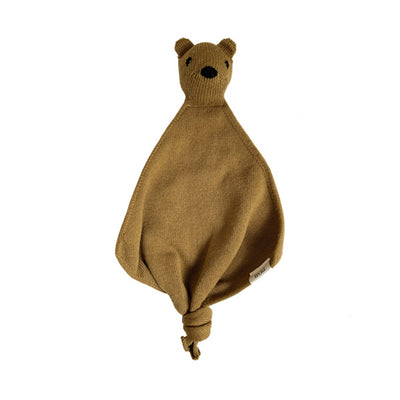 Hvid Teddy Tokki Cuddle Cloth – Mustard