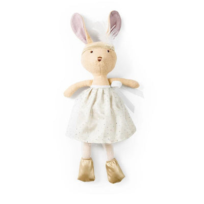 Hazel Village Juliette Rabbit in Silver and Gold Party Outfit
