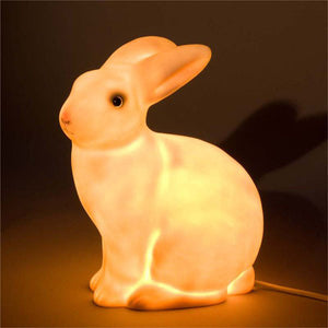 Heico Bunny Rabbit Lamp - White with Pink Snout