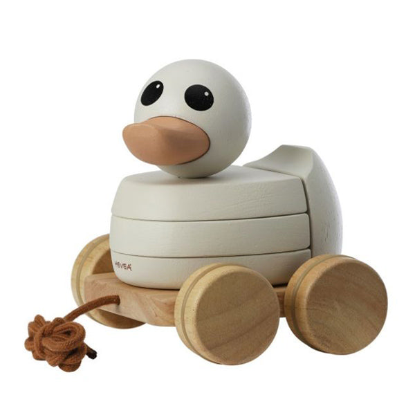Hevea Kawan Rubberwood Stacker & Pull Toy