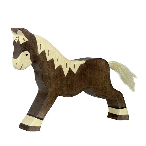 Holztiger Horse Running - Dark Brown