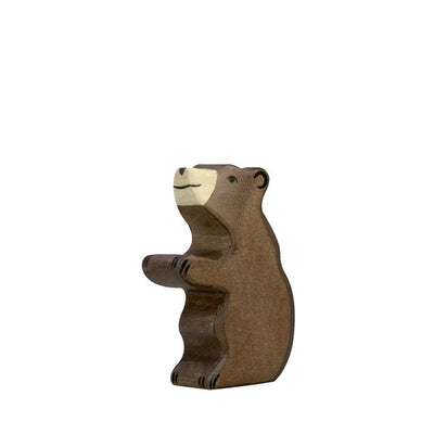 Holztiger Brown Bear Small - Sitting