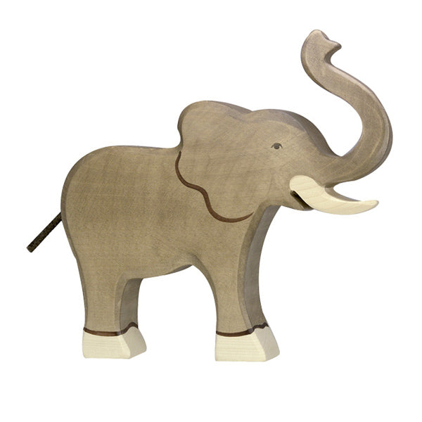 Holztiger Wooden Elephant Trunk Raised