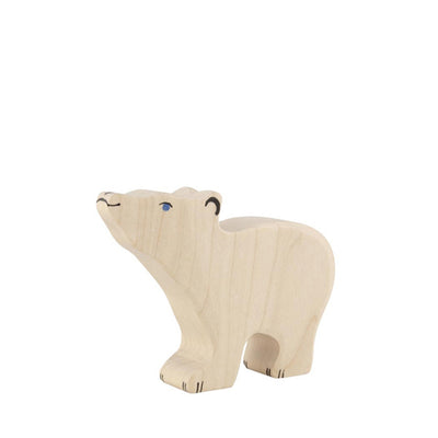 Holztiger Polar Bear - Small Head Raised