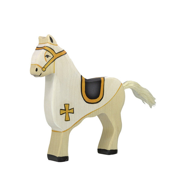 Holztiger Tournament Horse - White