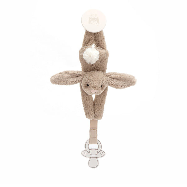 Jellycat Bashful Bunny Dummy Holder – Beige